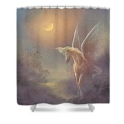 Astral Pegasus Shower Curtain