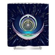Astral Speedway Shower Curtain