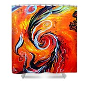 Astral Travels. Fire Way Out Of The Death Shower Curtain