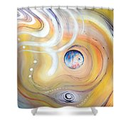 Astral Vision. Earth And Its Energy Shower Curtain