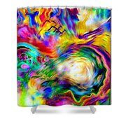First Breath.. Shower Curtain