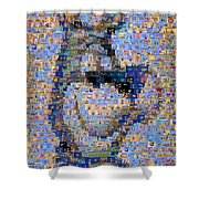 Astro Jetsons Mosaic Shower Curtain