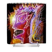 Astroface Firehead Shower Curtain