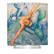 Astrology Zodiac Signs Pisces Shower Curtain
