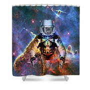 Astronaut Disintegration Shower Curtain