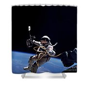 Astronaut Floats In Space Shower Curtain