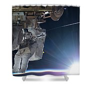 Astronaut Terry Virts Eva Shower Curtain
