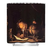Astronomer By Candlelight Shower Curtain