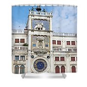 Astronomical Clock At San Marco Square Shower Curtain