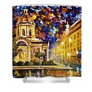 Asuncion Paraguay - Palette Knife Oil Painting On Canvas By Leonid Afremov Shower Curtain