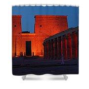 Aswan Temple Of Philea Egypt Shower Curtain