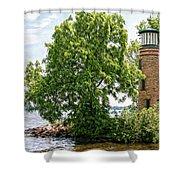 Asylum Point Lighthouse 1 Shower Curtain