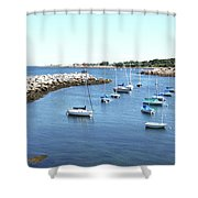 At Anchor In Rockport Ma Harbor Shower Curtain