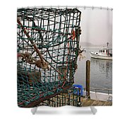 At Anchor On Cape Porpoise Shower Curtain