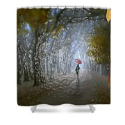 At Autumn Park Shower Curtain
