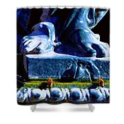 At His Feet Shower Curtain