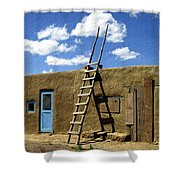 At Home Taos Pueblo Shower Curtain
