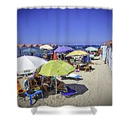 At Mondello Beach - Sicily Shower Curtain