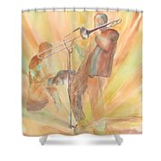At One With The Music Shower Curtain