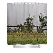 At Peters Canyon In The Rain 1 Shower Curtain