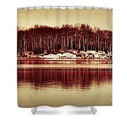 At Quiet Waters Shower Curtain