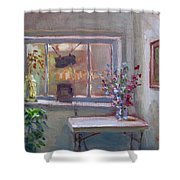 At River Art Gallery Shower Curtain