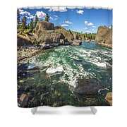 At Riverside Bowl And Pitcher State Park In Spokane Washington Shower Curtain
