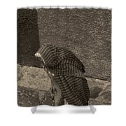 At Street Level Bw  Shower Curtain