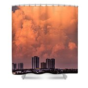 At Sunset In West Palm Beach Shower Curtain