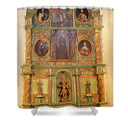 At The Alter San Miguel Mission Santa Fe New Mexico Shower Curtain