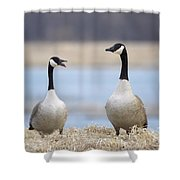 At The Bank Shower Curtain