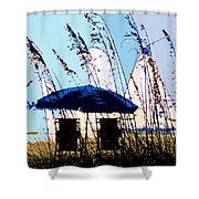 At The Beach Shower Curtain