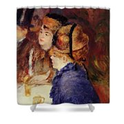 At The Cafe 1877 Shower Curtain