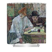 At The Cafe La Mie About 1891 Shower Curtain