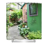 At The Corner Of Summer And Love Shower Curtain