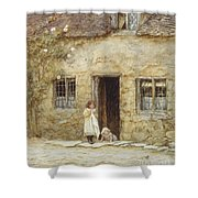 At The Cottage Door Shower Curtain