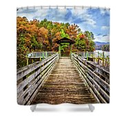 At The End Of The Dock Shower Curtain