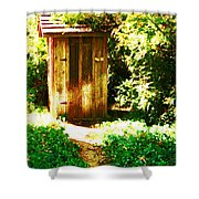 At The End Of The Path Shower Curtain
