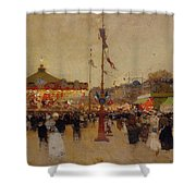 At The Fair  Shower Curtain by Luigi Loir
