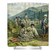 at the Fort of Waia Shower Curtain