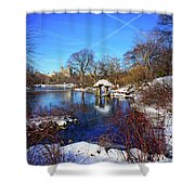 At The Frozen Lake Shower Curtain