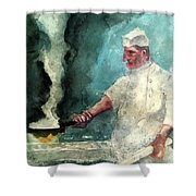 At The Griddle Shower Curtain