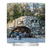 At The Grotto Shower Curtain