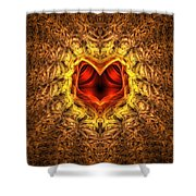 At The Heart Of The Matter Shower Curtain