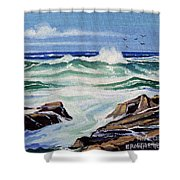At The Ocean Shower Curtain