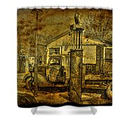 At The Pumps No.7009a1 Shower Curtain