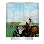 At The Races In The Countryside,  Shower Curtain