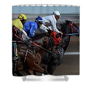 At The Racetrack 1 Shower Curtain