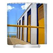 At The Seashore 3 Shower Curtain