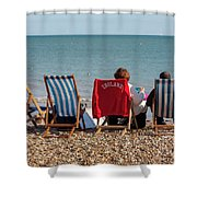 At The Seaside Shower Curtain